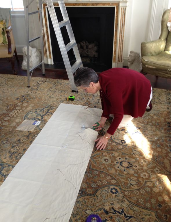 Cutting Out The Valance Template