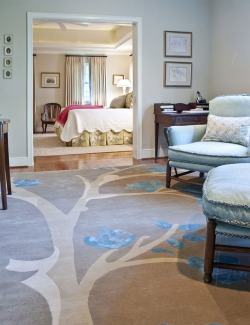 interior design with rugs