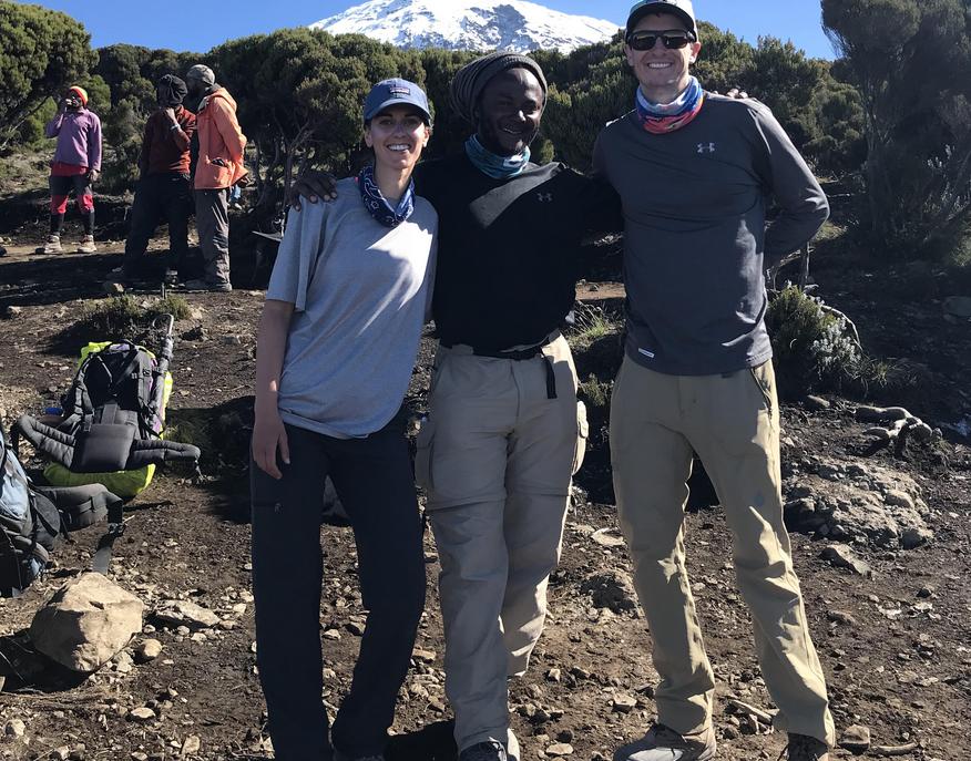 Arden hikes Mount Kilamanjaro